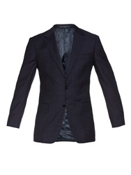 Gieves And Hawkes Pinstripe Notch Lapel Blazer