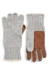 Men's Polo Ralph Lauren Merino Wool Blend Gloves Grey Fawn Grey Ragg