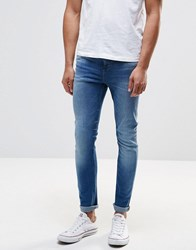 New Look Skinny Jeans In Mid Wash Blue Bright Blue