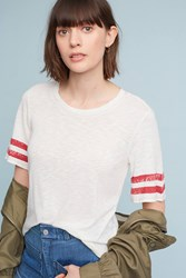 Anthropologie Roller Rugby Tee Cream