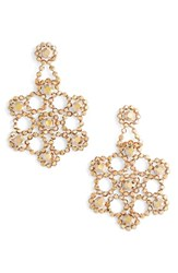 Kate Spade Women's New York 'Crystal Lace' Statement Earrings Rose Gold