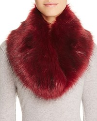 Cara Accessories Faux Fur Collar Bordeaux