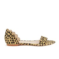 Loeffler Randall Women's Lina Scalloped Sandals Cheetah Tan