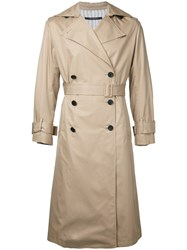Dressedundressed Button Up Trench Coat Brown