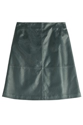 Mcq By Alexander Mcqueen Mcq Alexander Mcqueen Perforated Leather Skirt Green