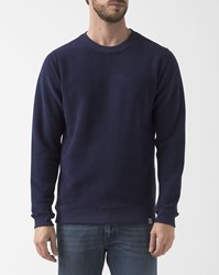 Norse Projects Brushed Navy Blue Vagn Sweatshirt