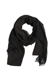 Cutuli Cult Modal And Viscose Scarf Black