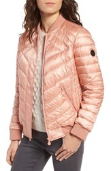 Bernardo Women's Water Resistant Insulated Bomber Jacket Peach Blush