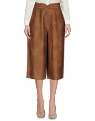 5Preview 3 4 Length Shorts Brown