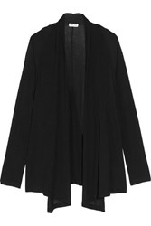 Splendid Wrap Effect Stretch Knit Cardigan Black
