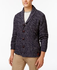 Weatherproof Shawl Collar Cardigan Navy Heather
