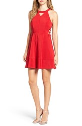 Love Nickie Lew Women's Halter Fit And Flare Dress Red