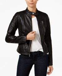 Levi's Faux Leather Biker Jacket Black