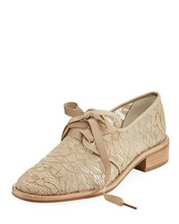 Adrianna Papell Paisley Lace Covered Oxford Beige