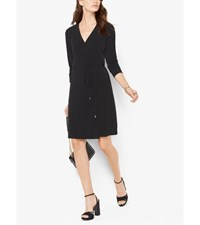 Matte Jersey Wrap Dress Black