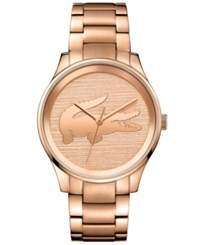Lacoste Women's Victoria Rose Gold Tone Stainless Steel Bracelet Watch 38Mm No Color