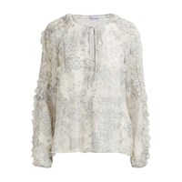 Red Valentino Crepe De Chine Blouse Grey Moon