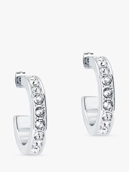 Ted Baker Seannia Swarovski Crystal Hoop Earrings Silver