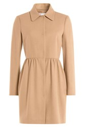 Red Valentino Wool Blend Tailored Coat Beige