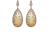 Carole Shashona Women's Park Avenue Double Drop Earrings Yellow