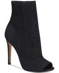 Aldo Women's Keshaa Peep Toe Knit Bootie Black