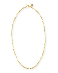 Ashley Pittman Hammered Bronze Toggle Chain Necklace