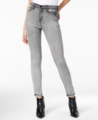 William Rast Sculpted High Rise Gray Wash Skinny Jeans Midnight Rain