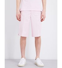 Givenchy Mid Rise Cotton Shorts Pale Pink
