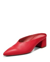 Vince Ralston Leather Slide Mule Red