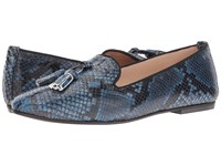 Massimo Matteo Snake Tassel Slip On Blue Women's Slip On Dress Shoes
