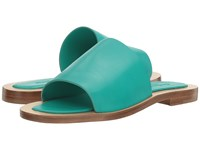Charles By Charles David Casey Emerald Leather Women's Flat Shoes Green