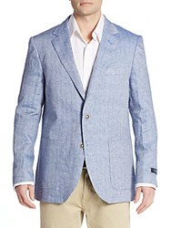 Tailorbyrd Regular Fit Linen Sportcoat Navy