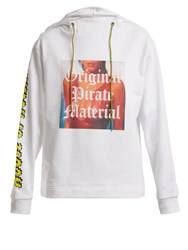 House Of Holland Original Pirate Material Cotton Hoodie White