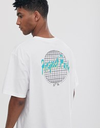 Brooklyn Supply Co. Co Oversized T Shirt With Back Print In White