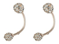 Guess Pave Ball Barbell Earrings Rose Gold Crystal Earring
