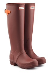 Hunter Tall Wellington Boots Red