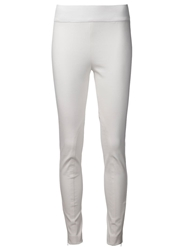 Stella Mccartney Zip Elastic Waist Leggings White
