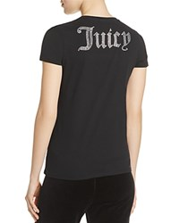Juicy Couture Black Label Gothic Crystal Tee Pitch Black