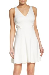 Ali And Jay Women's Ponte Fit Flare Dress Cream