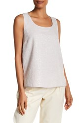Lafayette 148 New York Cleo Sequin Linen Blouse White
