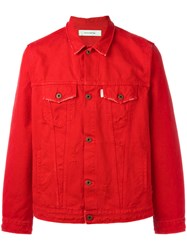 Off White The End Denim Jacket Red
