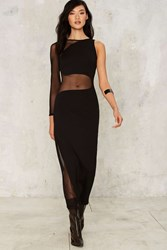 Nasty Gal On Your Side Mesh Maxi Dress 76131