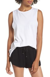 Richer Poorer Muscle Tank White