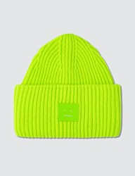 Acne Studios Face Patch Beanie Green