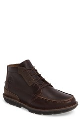 Timberland Men's Coltin Moc Toe Boot Dark Brown Leather