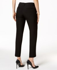 Kasper Straight Leg Ankle Pants Black