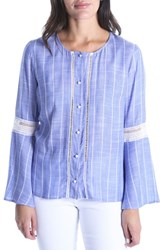 Kut From The Kloth Vienna Peasant Top Blue