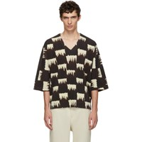 Homme Plisse Issey Miyake Brown And White Wild Check T Shirt