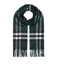 Burberry Shoes And Accessories Classic Cashmere Scarf Female Teal