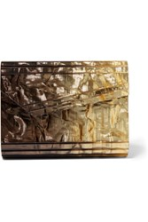 Jimmy Choo Candy Degrade Acrylic Clutch Gold